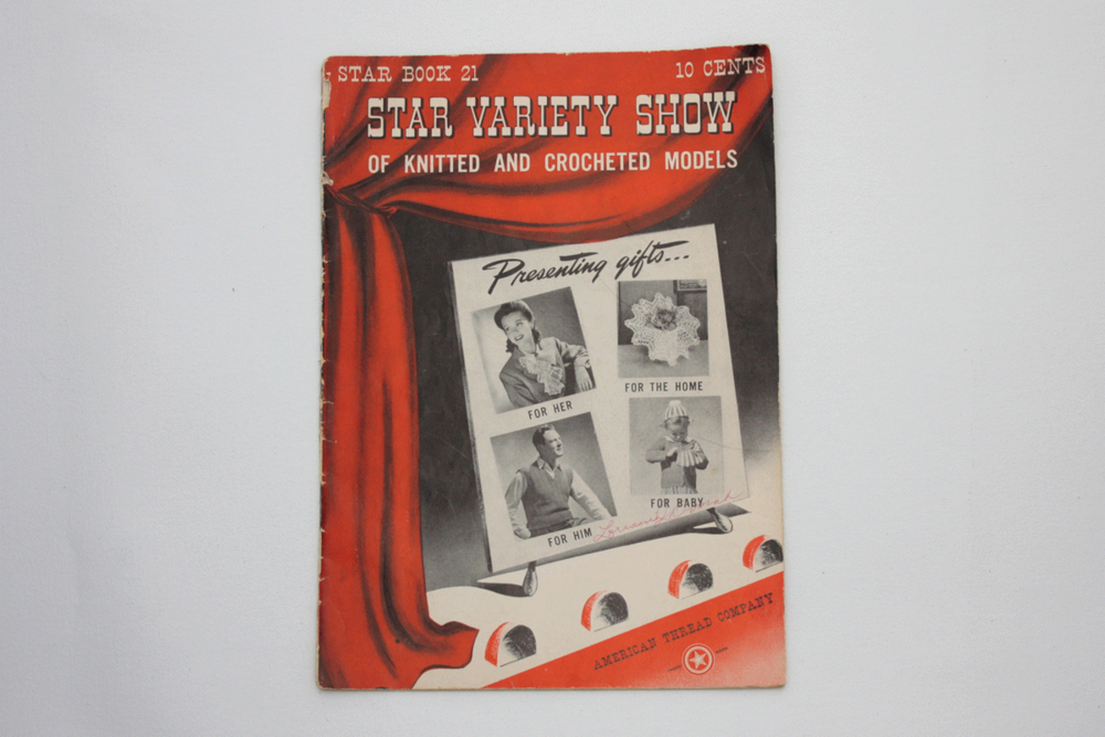Vintage Knitting Crochet Pattern Book From The 40s Star Variety