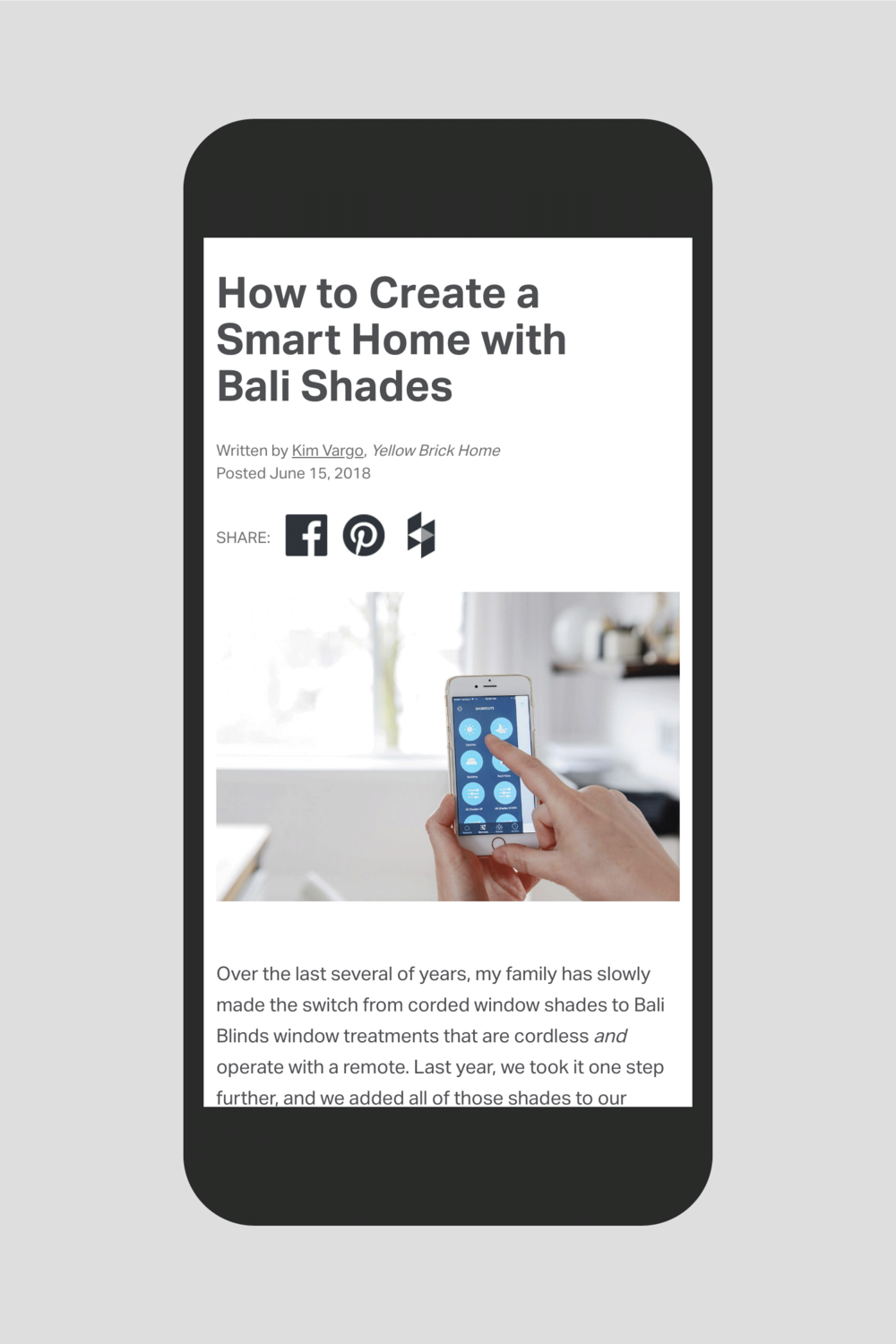 Baliblinds.com Design Blog Article: How to Create a Smart Home with Bali Shades
