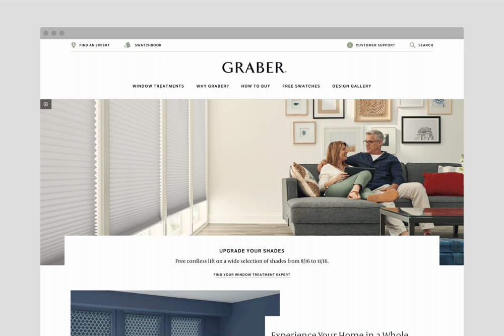 Graberblinds.com Home Page
