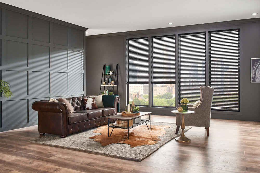 Graber Vinyl Blinds in a stylish room