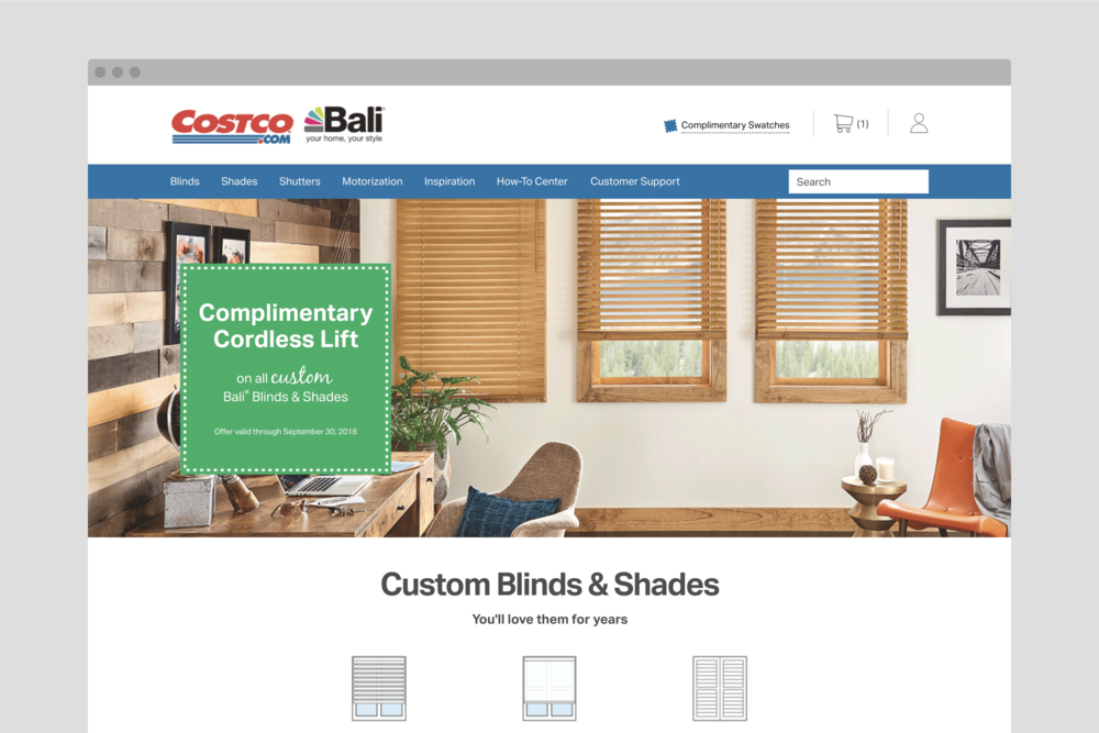 Costco Bali home page