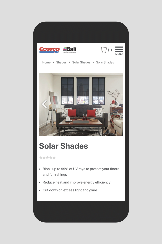Bali Solar Shades product page