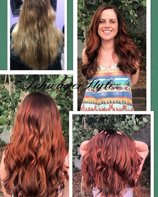 Ohhh my gosh hello fall !!! Hello hair #iwantherhair #bejealous #SchwagerStylez #longhairdontcare #timeforachange #fallhair #redhair #beautifullady #btc #modernsalon #coloradospringsstylist #coloradohairstylist