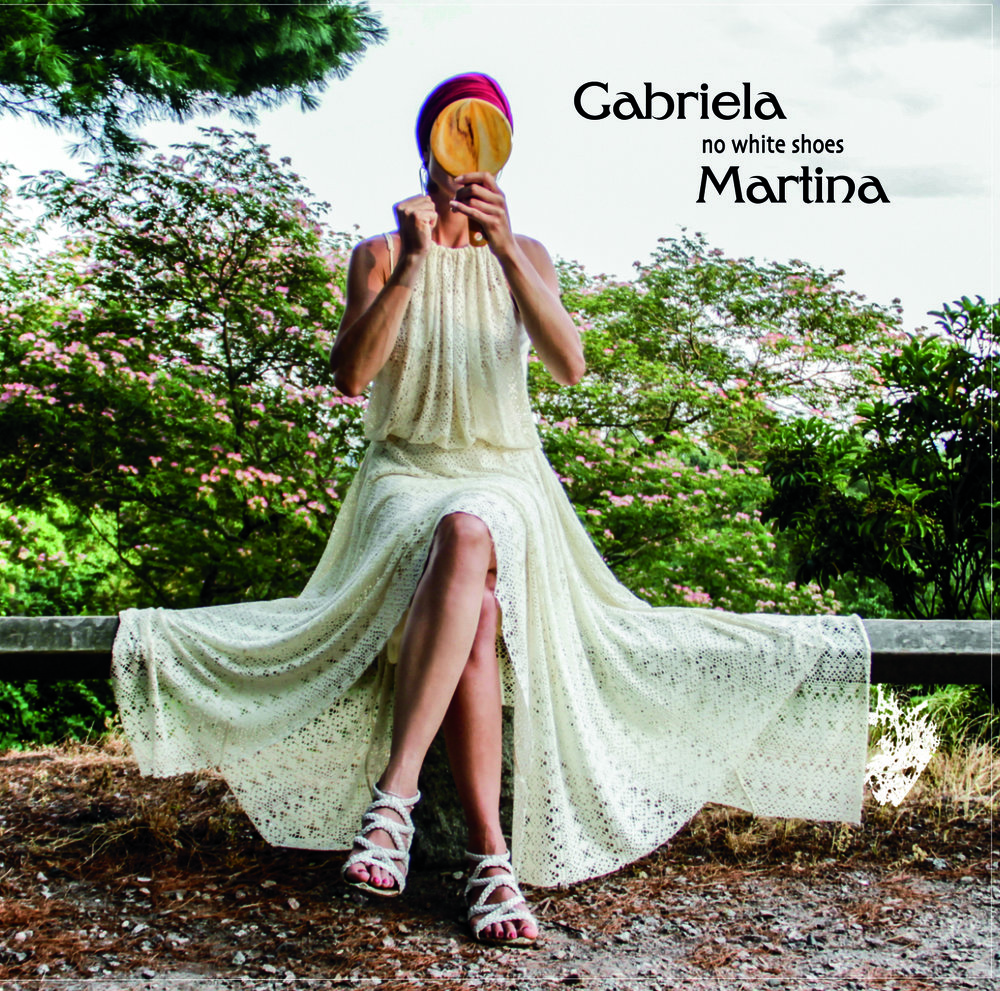 "No White shoes - – 2016Gabriela Martina – voiceAlex Bailey – drumsKyle Miles – bassJiri Nedoma – pianoJussi Reijonen - guitarAll music & lyrics by Gabriela Martinaexcept Witch Hunt by Wayne Shorter, arranged by Gabriela MartinaA Night In Tunisia by John ""Dizzy"" Gillespie & Frank Paparelli, arranged by Gabriela MartinaProduced by Gabriela MartinaMixed & mastered by Luis Bacque at BACQUE RECORDING ENGINEERING, New York NY"