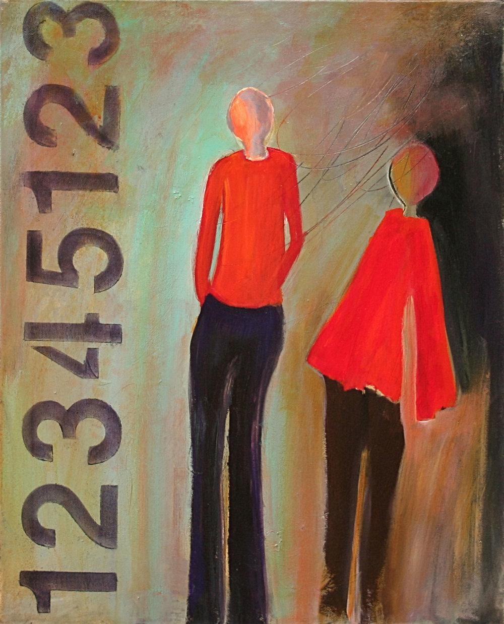 "Sunday Stroll  20x16"" Acrylic/Pastel"