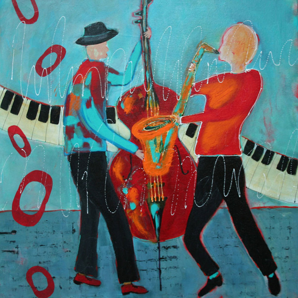 "Jam Session  24x24""  Acrylic"