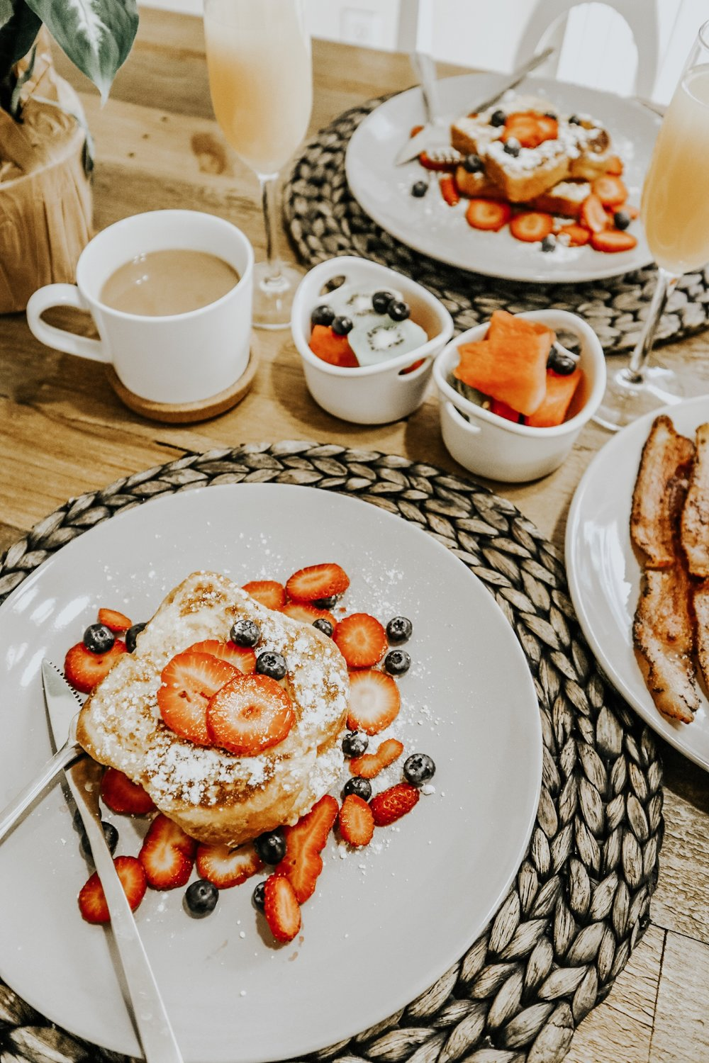 Sunday Brunch - how to make strawberry french toast and veggie scrambled eggs