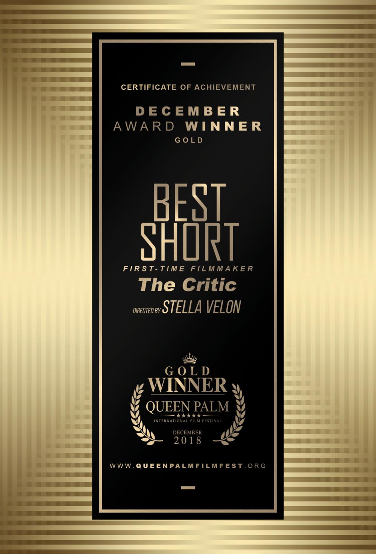 QPIFF GOLD AWARD CERTIFICATE - BEST SHORT FILM - FIRST-TIME FILMMAKER -SIDE B.png