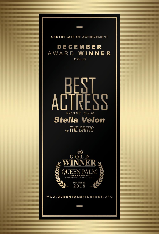 QPIFF GOLD AWARD CERTIFICATE - BEST ACTRESS - SHORT FILM -SIDE B.png