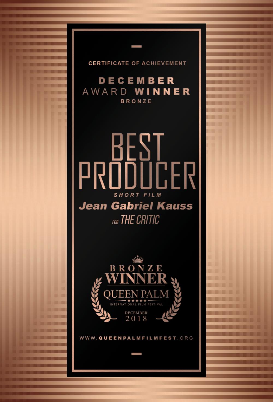 QPIFF BRONZE AWARD CERTIFICATE- BEST PRODUCER - SHORT FILM - SIDE B.png