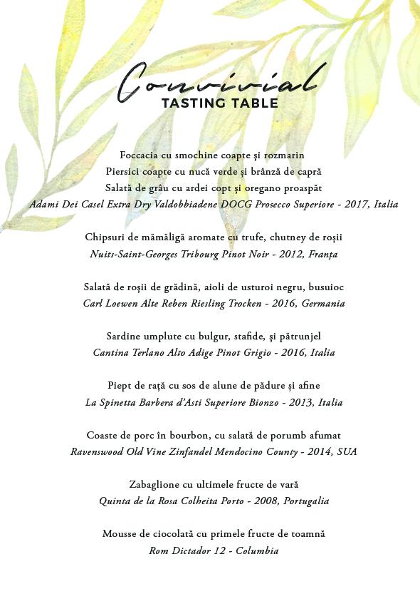 - Revenim în bucătăria deschisă de la Mazilique Studio pentru a ne bucura de ultima zi de vară, într-o nouă cină din seria Convivial.Pe 31 august, adunăm ingredientele noastre preferate din finalul de sezon, adăugăm o selecție de vinuri care vor completa meniul și ne adunăm în jurul mesei pentru o nouă experiență care să încheie vara într-un mod memorabil._Fee: 330 lei31 august, ora 19:30Locurile sunt limitate, iar confirmarea se face în ordinea înscrierilor.Pentru întrebari și rezervări: studio@mazilique.ro