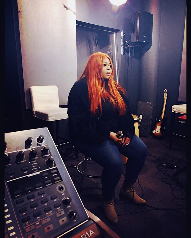 Rehearsal... I think I'm ready for tomorrow. First time performing in NYC 🙏🏾 • • • • • • • •  #plussize #plussizemodel #psblogger #fullfigured  #plusmodelmag  #fashionnovacurve  #plussizelife #curvygirl  #congolese #congolaise #bodypositive #singersongwriter  #torontofashion #plusmodel  #recordingartist #orangehair #studio #torontostudio #torontomusic  #toronto_insta #torontoartist #recordingstudio  #mic #microphone #guitar #musician #nycstudio #nymusic #brooklynmusic #rehearsal