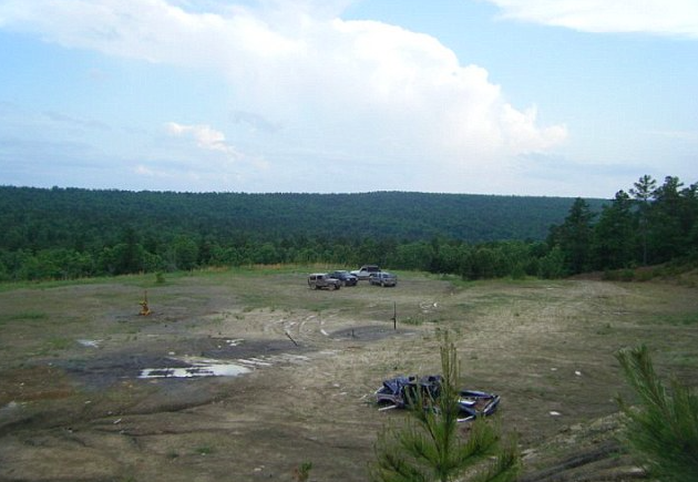 The top of Panola Mountain where the truck was discovered.