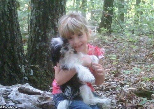 Madison with Maisy the dog.