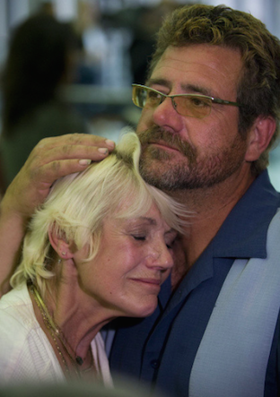 Robin's mother, Marianne and her brother Robert after Alcala was sentenced to death in 2010 (source: OC Register)
