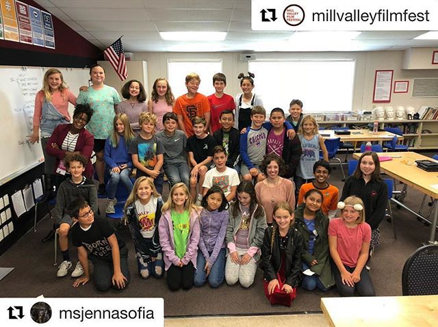 @msjennasofia takes #breakthecamerafilm to Petaluma!  #Repost @millvalleyfilmfest with @get_repost ・・・ #Repost @msjennasofia ・・・ Starting the day off with the future. These kids rock!! @millvalleyfilmfest 's Filmmakers Go To School initiative is one of my fave parts about #mvff41 so far! We watched #breakthecamerafilm together, they were SUPER attentive and then asked amazingly insightful questions - I can't wait to see what they create. PS - These kids have ALL made their own shorts. Yowza! #filmmaker #womeninfilm #kidsareamazing #petaluma #chickencapital #femalefilmmaker #ibelievethechildrenareourfuture #education #brightlights #joyasrebellion #documentaryshort