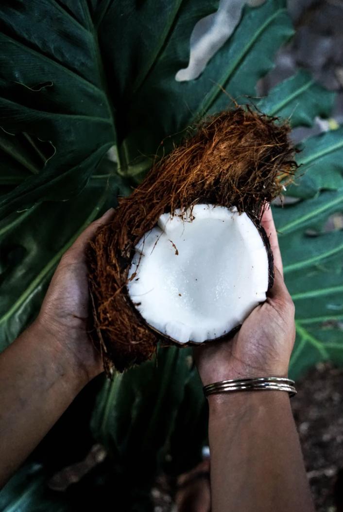 A fresh coconut