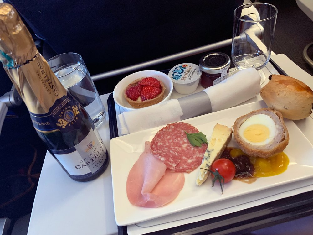Airplane food is usually hit or miss haha