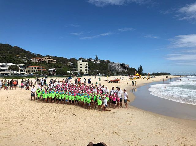 Gorgeous Day for @currumbinbeachvikings nippers Photo Day. Beautiful chaos 😆 #teamphotos #goldcoastteamphotos