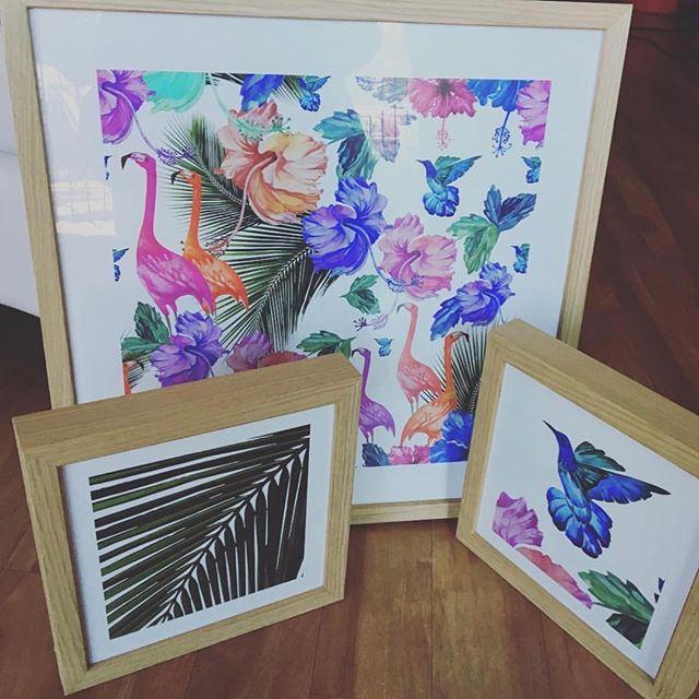 Custom framing in Oak #frameyourart #tweedcoastframer #oak #kingscliff #homedecor #artist #creative