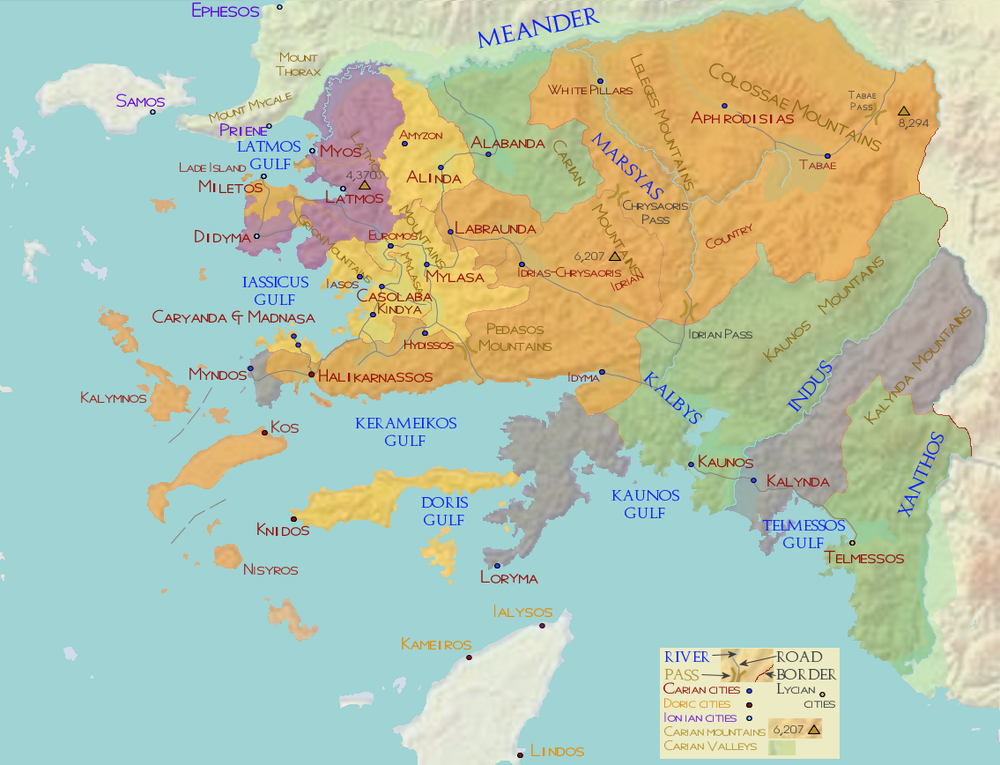 Caria ca 485 BC
