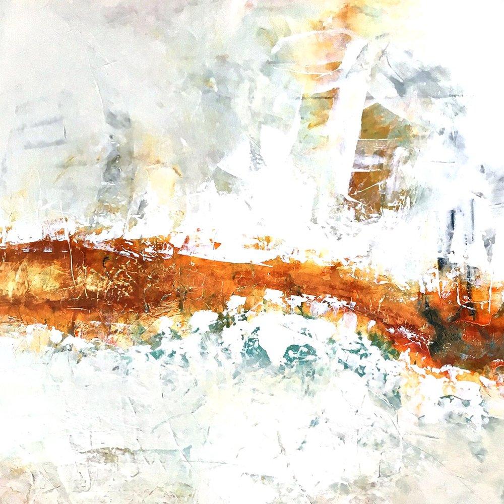 """Desert Oasis [one]  48"""" x 48"""" Acrylic"""