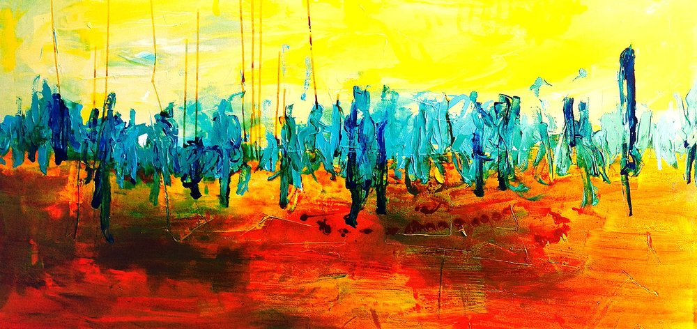 """Untitled  36"""" x 72"""" Acrylic SOLD"""