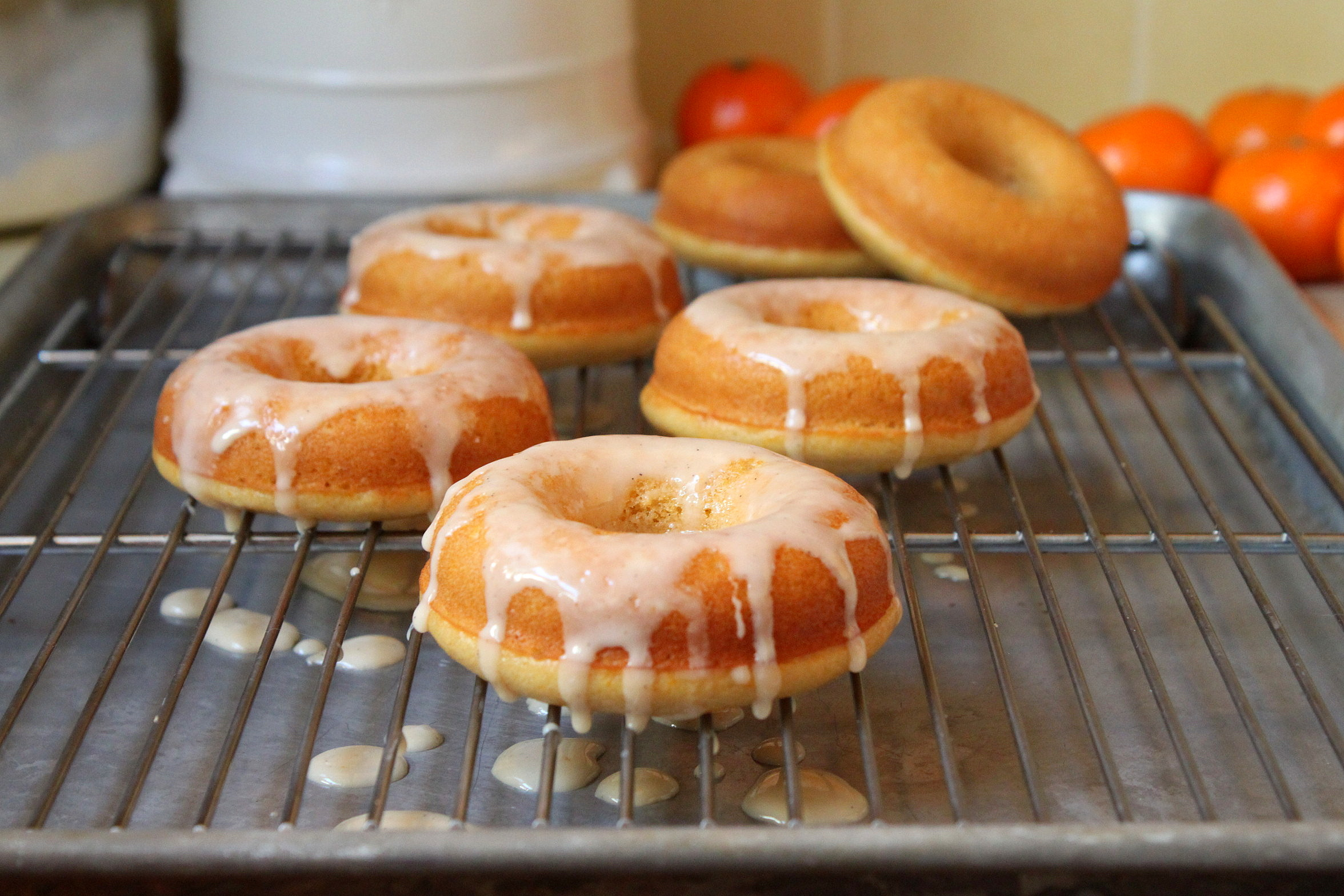 baked clemetine doughnuts