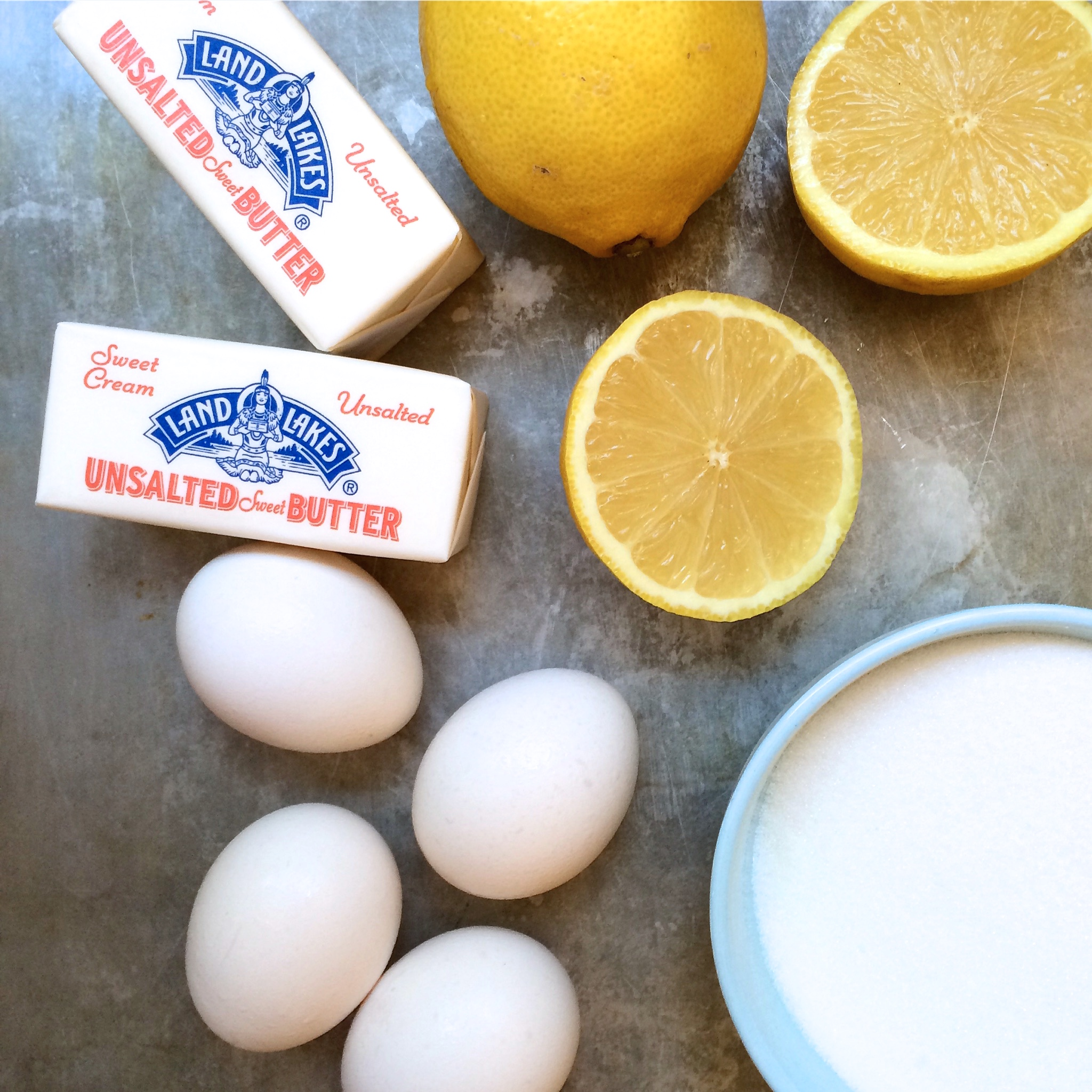 butter sugar lemon eggs