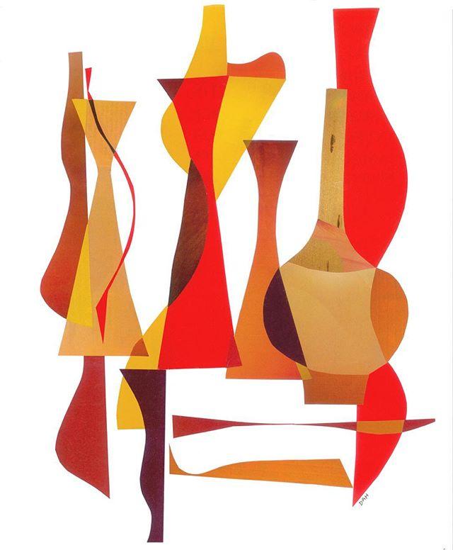 """Orange Juice""  #art #modern #collage #midcentury #artwork #artist #local #sandiego #interiors #interior #design #interiordesign"