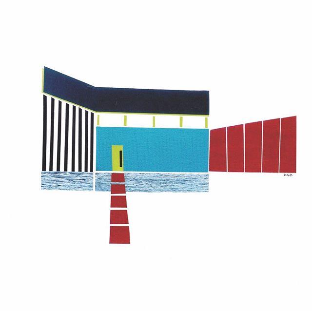 """""""Home Sweet Home""""  #art #modern #collage #midcentury #artwork #artist #local #sandiego #interiors #interior #design #interiordesign"""