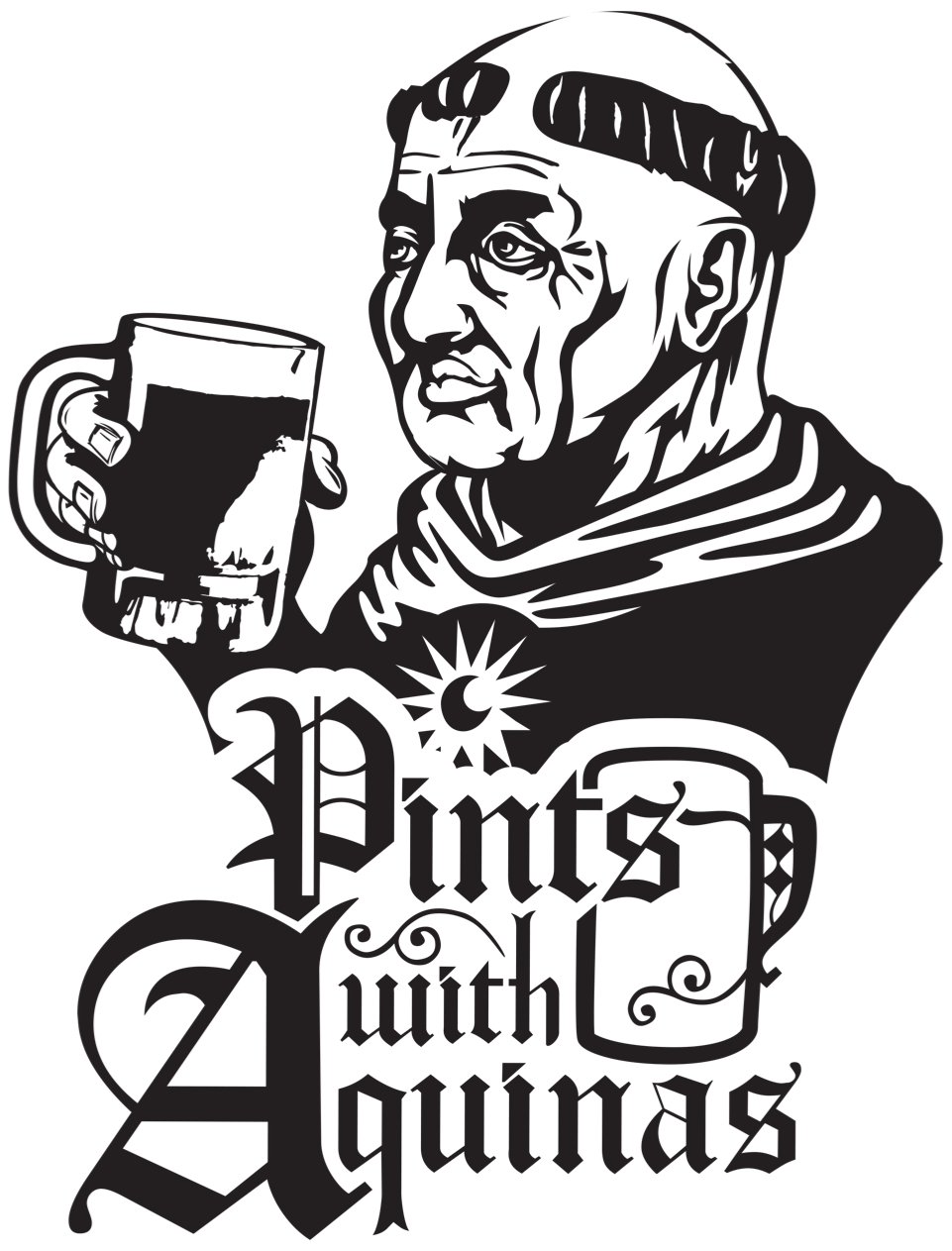 Pints With Aquinas Sticker