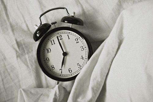 clock in bed