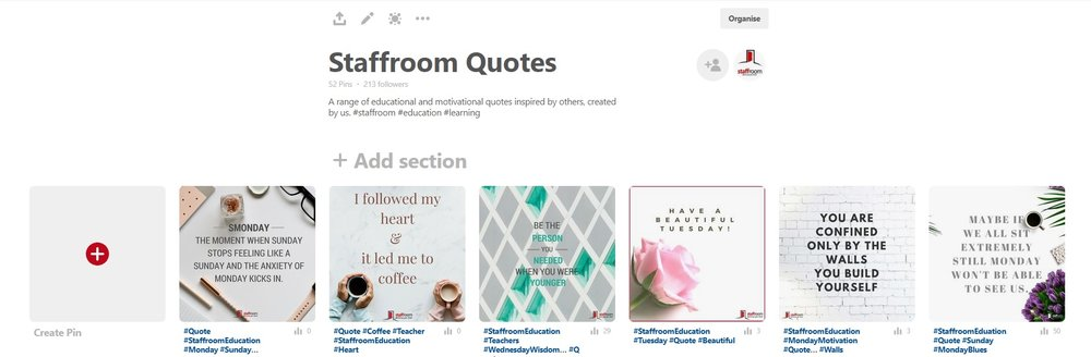 Pinterest Board Description