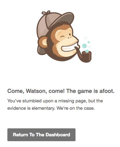 MailChimp's error 404