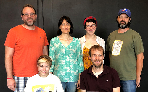 2018 Fringe Festival New Play Team: Lee Cromwell, Festival Producer; Me; Josie Felt, Stage Manager; Jason Aufdem-Brinke, Lighting Designer; Amy McDonald, Costume Designer and Gordon Nimmo-Smith, Sound Designer.