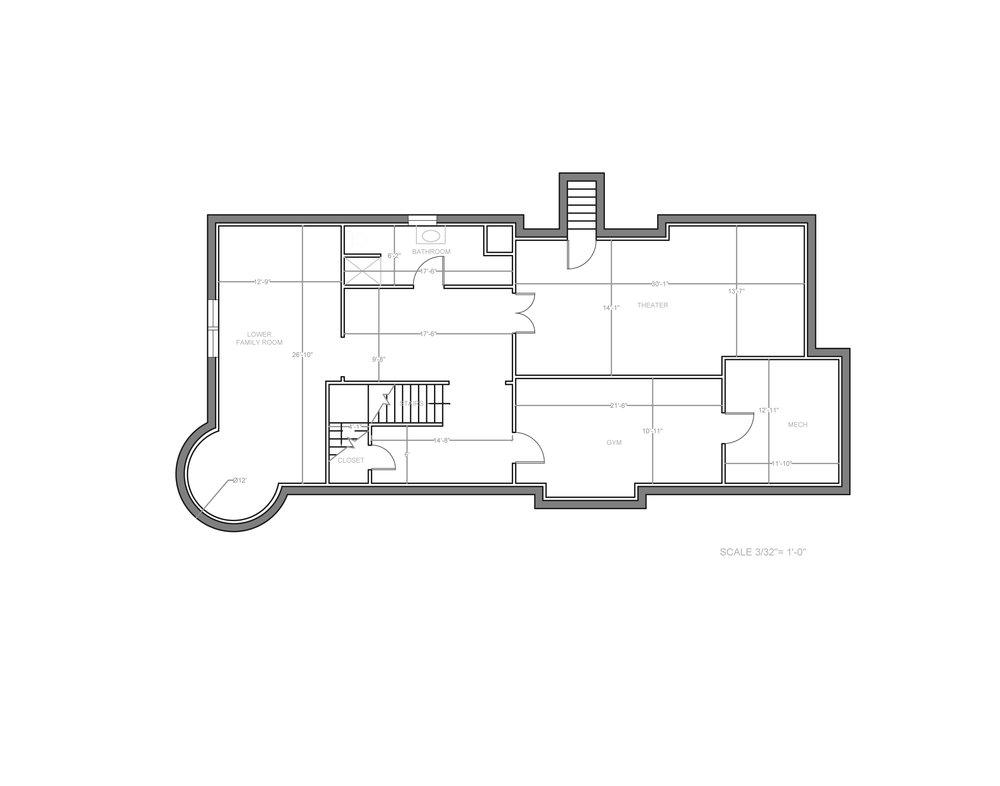 luxury home - basement floor plan