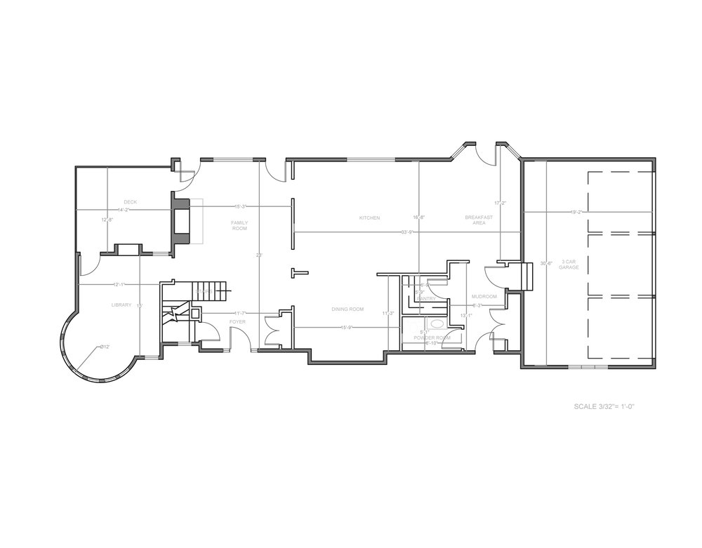 luxury home - 1st level floor plan