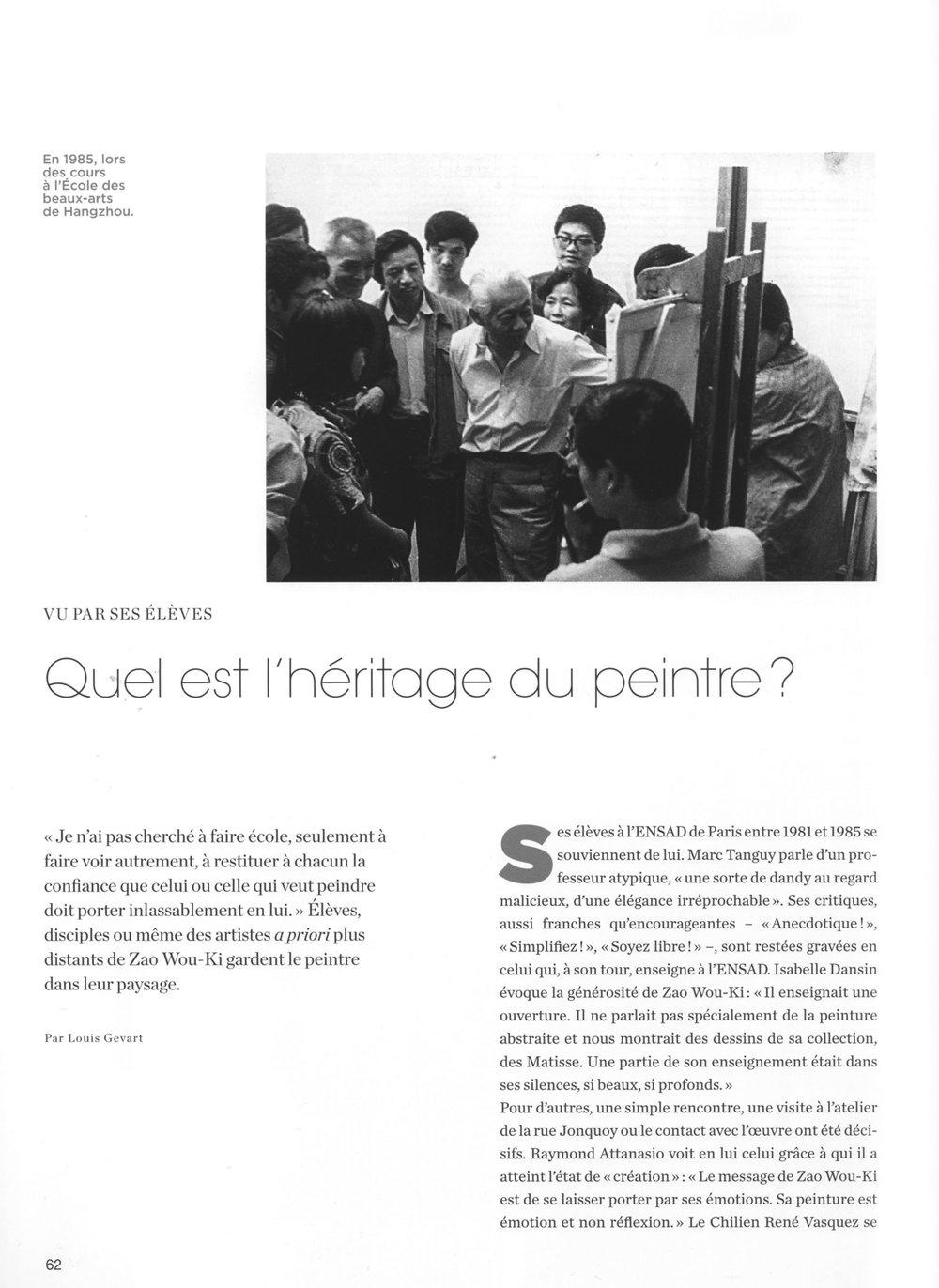 Beaux-Arts Magazine, numéro spécial Zao Wou Ki