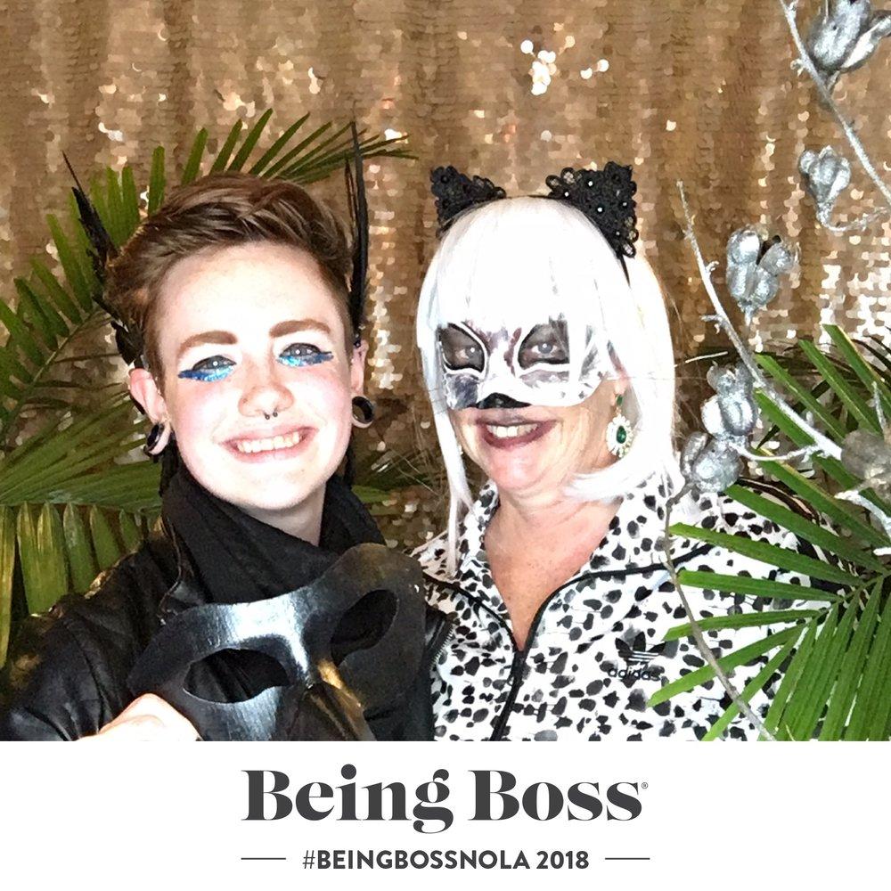 photo of #beingbossNOLA2018 masquerade courtesy of trevormarkphoto.com/@trevor_mark on instagram