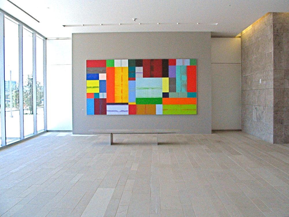 Charles Arnoldi,  Gaslight , 2007, acrylic on canvas, 91 x 181 inches