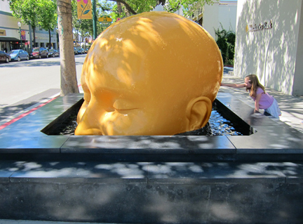 Seyed Alavi,  Fountain Head , 2012, fiberglass, 44 x 77 x 66 inches