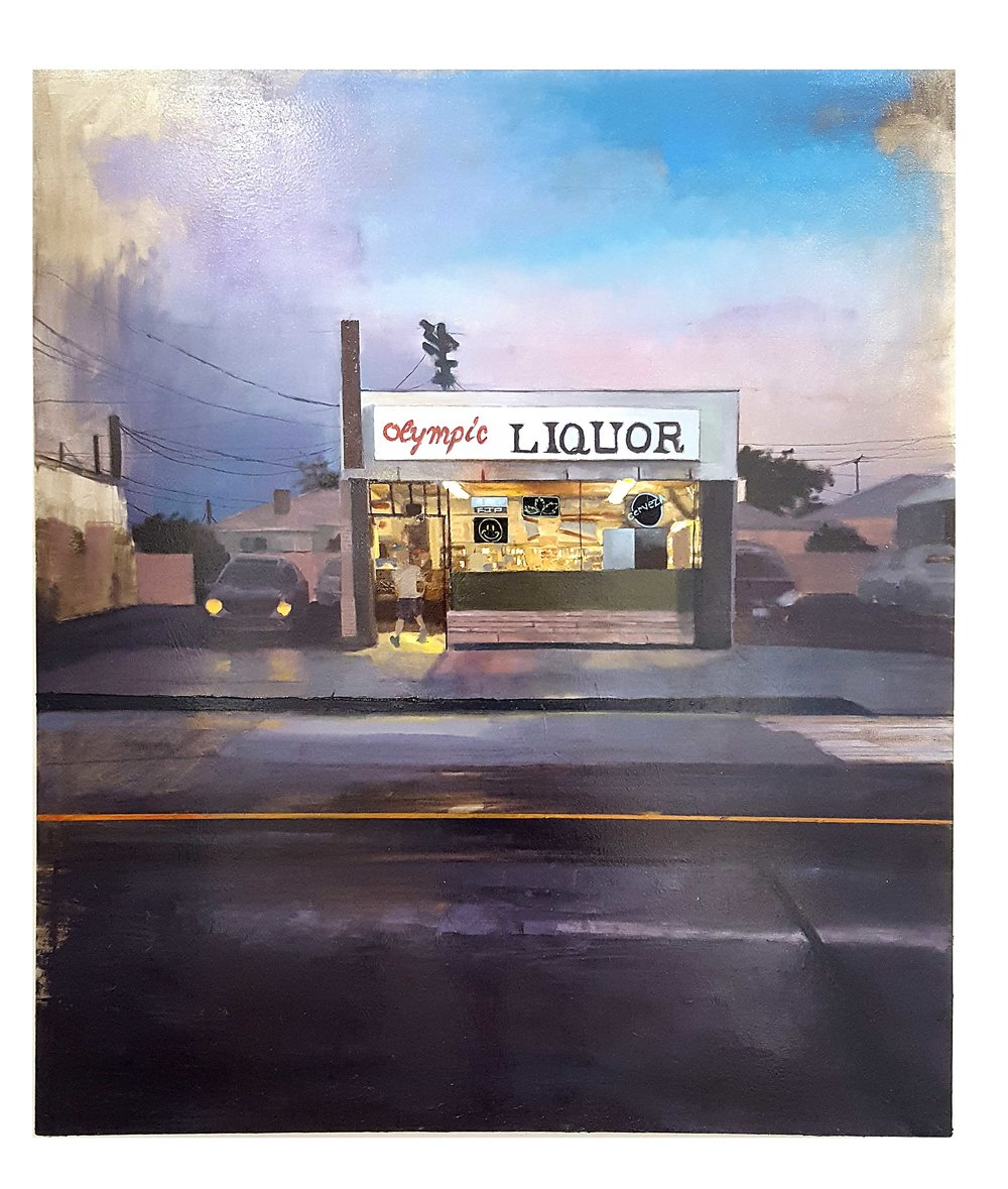 Olympic Liquor, Oil on canvas. 48x52 in