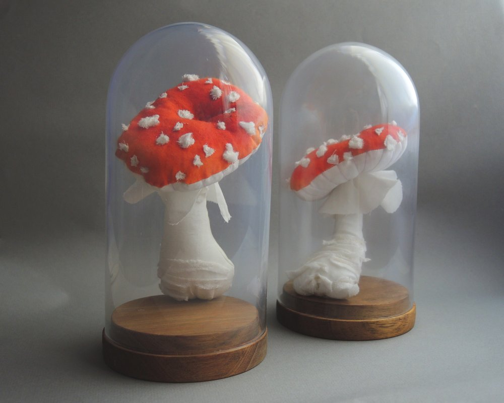 "Amanita Cotton and Polyfill 4x8"" 2016"
