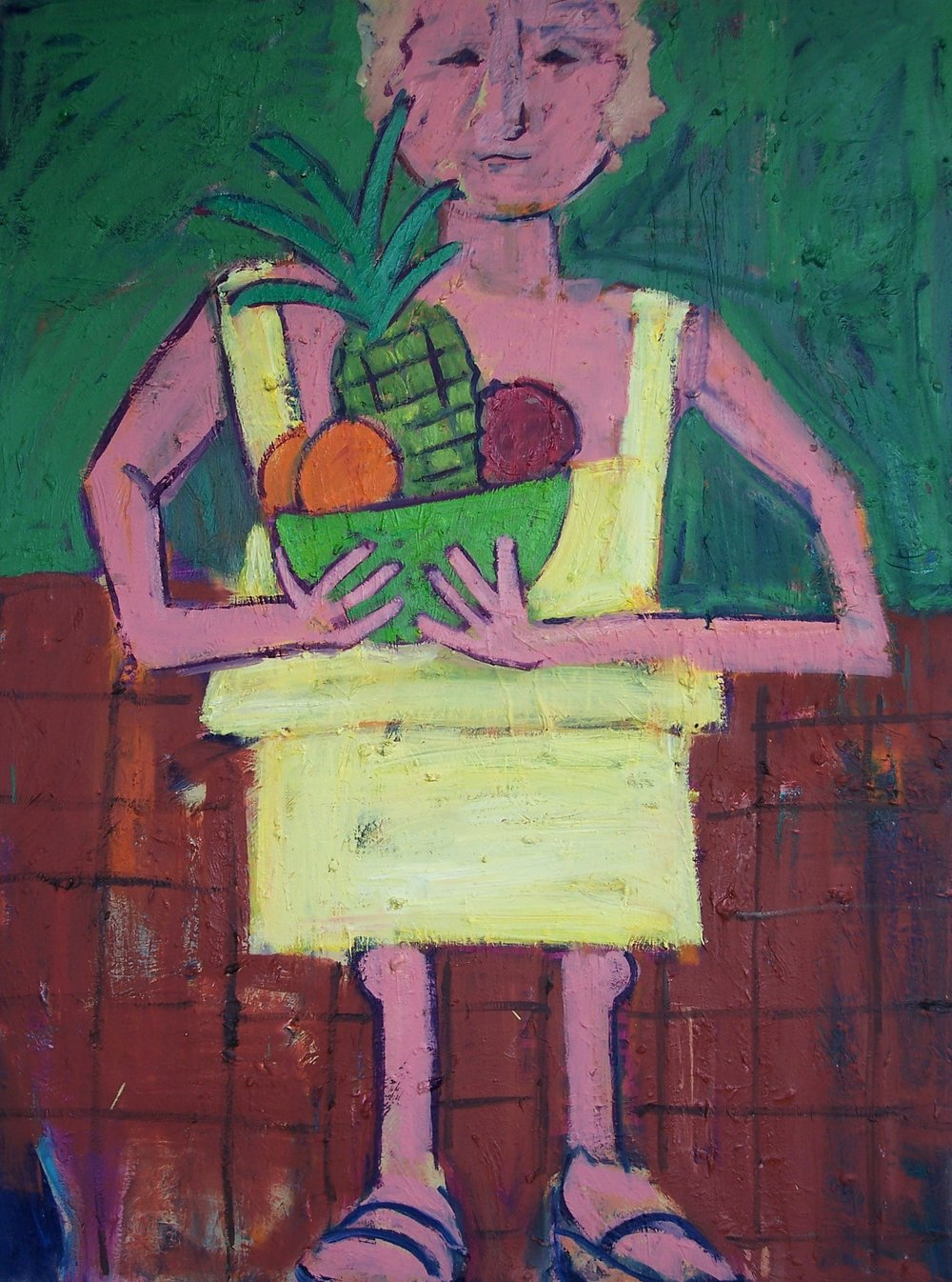 Woman with Fruit (30 X 40)