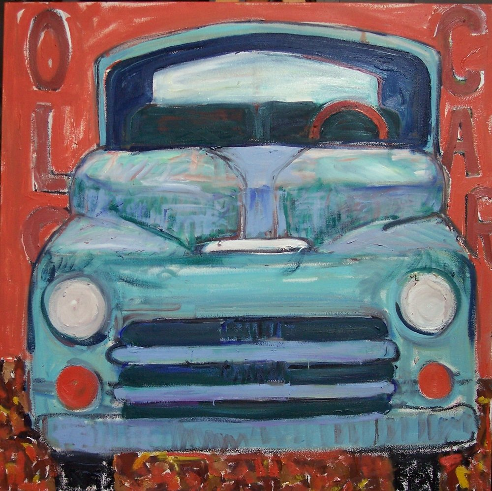 Old Car Teal (36x36)