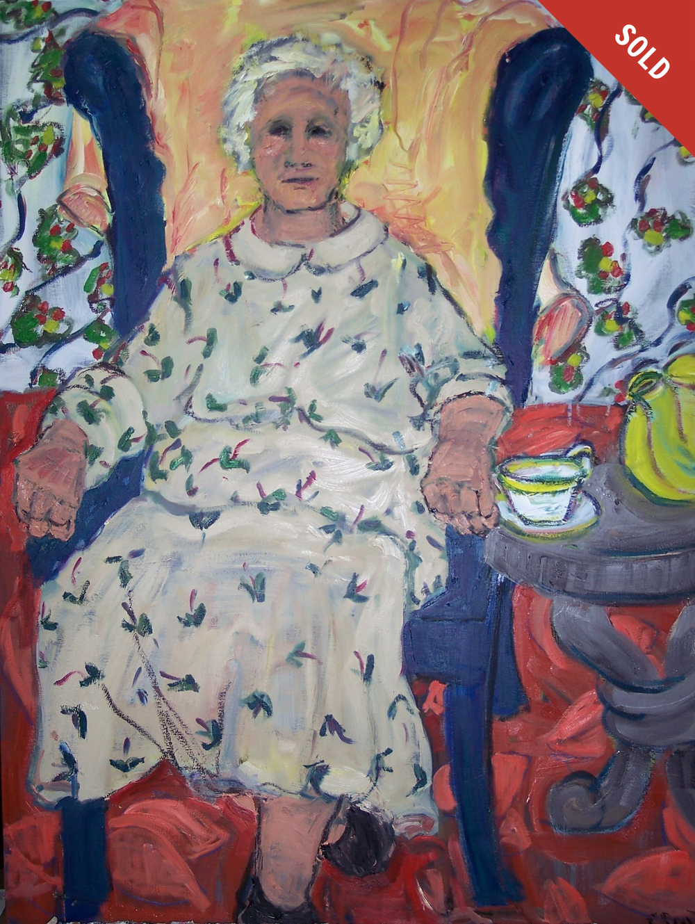 Grandmother Seated (30 X 40)