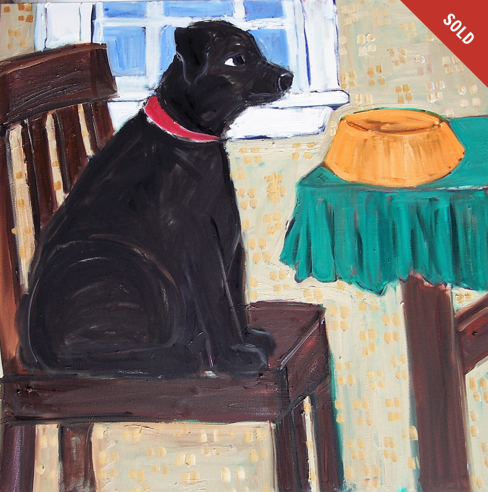 Dog and Chair (36 X 36 inches)