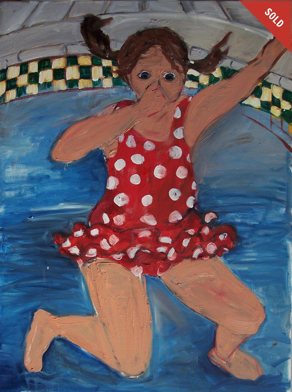 Girl Jumping (30 X 40)