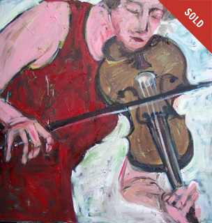 """VIOLIN AND RED DRESS"""